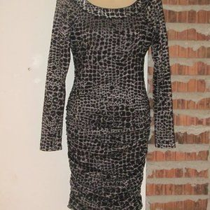 BCBG Dress Size Small Knee Length Ruched Sides